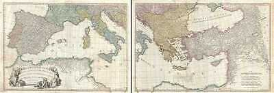 1785 Faden Map of the Mediterranean Region (Italy, Greece, The Balkans, Turkey,