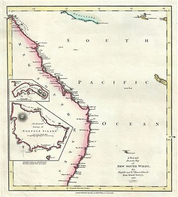 1792 Wilkinson Map of New South Wales, Australia