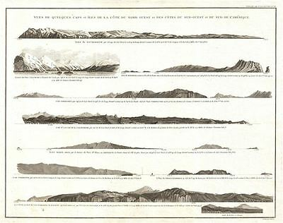 1799 Vancouver View of Various Capes from Alaska to Cape Horn
