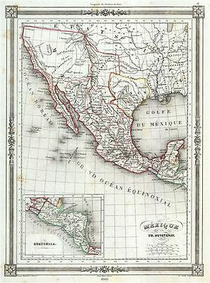 1846 Duvotenay Map of Mexico (w/ Republic of Texas)