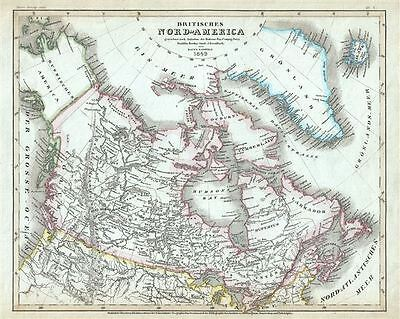 1849 Meyer Map of Canada or British North America