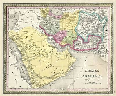 1850 Mitchell Map of Persia, Arabia and Afghanistan