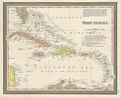 1850 Mitchell Map of the West Indies