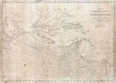 1851 Blunt Nautical Map of The Chesapeake Bay, Delaware Bay, and Albemarle Sound