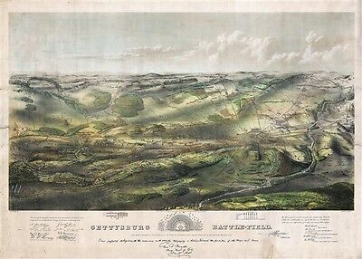 1863 Proof State of Bachelder's Iconic View of the Battle of Gettysburg