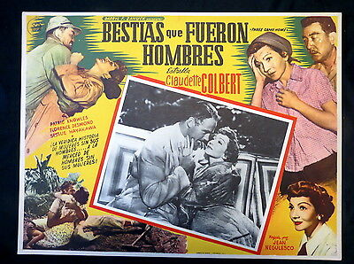 Claudette Colbert Three Came Home Patrick Knowles Lobby Card 1950