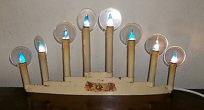 Vintage 1930's NOMA 8 Light CANDOLIER Partially Rewired RARE C6 HALO's Working