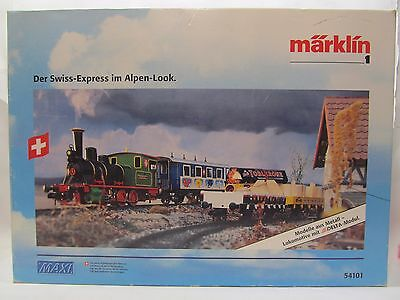 RARE Marklin Maxi 1 Gauge G Scale Delta Digital Tinplate Train Set Swiss Express