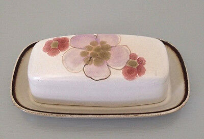Denby GYPSY 1/4 lb. Covered Butter Dish Plate w/ Lid Vintage Stoneware