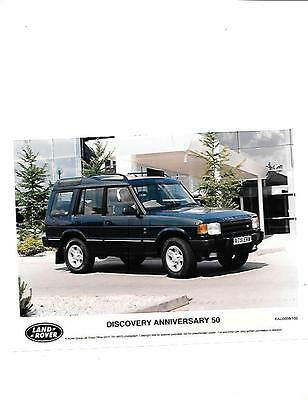 Land Rover Discovery Anniversary 50 Original Press Photo 'brochure'connected'