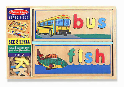 SEE & SPELL Learning Toy # 2940 ~ Melissa and Doug ~ Wooden