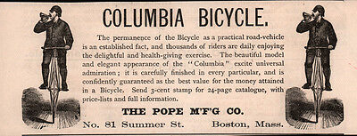 Ad Lot Of 14 Early Bicycle Ads Columbia Pope Mfg Tricycle