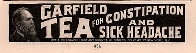 Ad Lot Of 4 1891 A -  Early Garfield Tea Ads Quack Cures Laxative