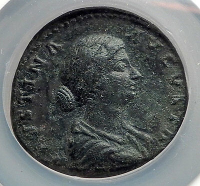 FAUSTINA II Marcus Aurelius Wife Sestertius Ancient Roman Coin NGC Ch XF i61205