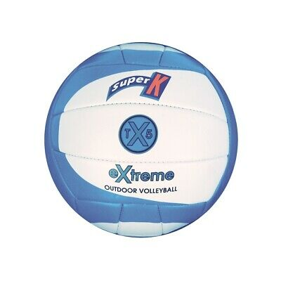 Super K Extreme Outdoor Volleyball - Electric Blue - Machine Stitched (Vbtx5Eb)
