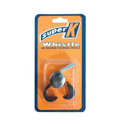 Super K Metal Whistle With Curved Plastic Finger Grip (Sawmfg)