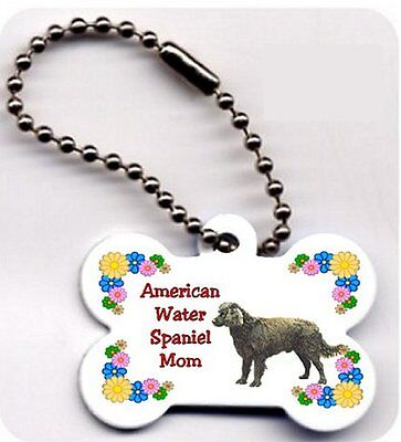American Water Spaniel Mom Dog Bone key ring chain