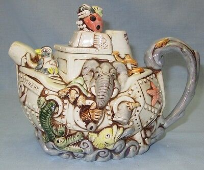 Noah's Ark Teapot By Paul Cardew Designs - Harmony Kingdom