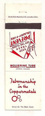 Wolverine Tube London ON Ontario Matchcover 042017