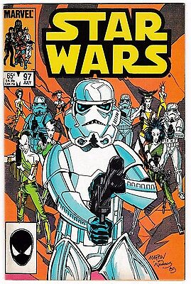 STAR WARS #97 (VF) Cool Stormtrooper Cover! Marvel 1985 LUKE SKYWALKER! LQQK!