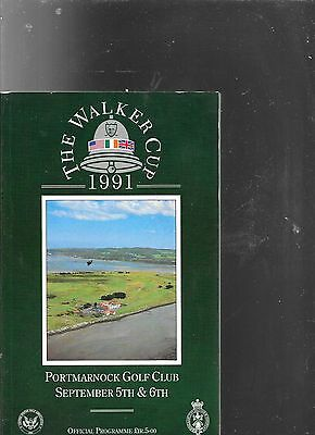 The Walker Cup 1991 at Portmarnock Programme