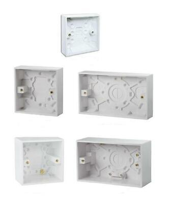 All Pattresses Socket Back Boxes Wall Boxes Single Double 16mm 25mm 47mm Surface