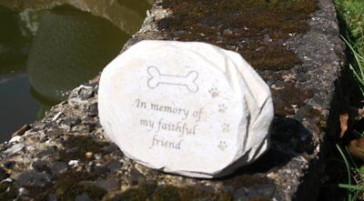 Resin dog memorial plaque