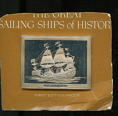 GREAT SAILING SHIPS OF HISTORY 3 oz Silver Sovereign of the Seas A287