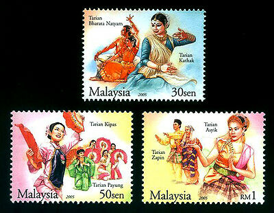 TRADITIONAL DANCE OF MALAYSIA Culture Costumes 2005 MNH Stamps