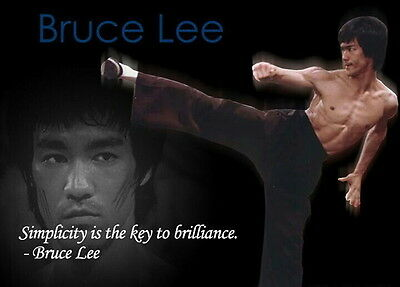 """Bruce Lee Quote Movie Poster Photo Fridge Magnet 2""""x 3"""" Collectibles"""