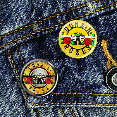 Guns N Roses Classic Rock Pin Button Badge 25mm, CHOICE OF 2