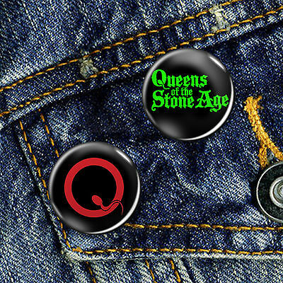QOTSA Queens of the Stone Age Button Badge 25mm, CHOICE OF 2