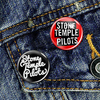Stone Temple Pilots Pin Button Badge 25mm, CHOICE OF 2