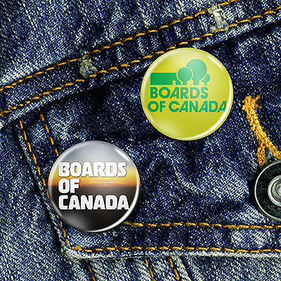 Boards of Canada Button Badge 25mm, CHOICE OF 2