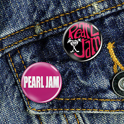 Pearl Jam Grunge Pin Button Badge 25mm, CHOICE OF 2
