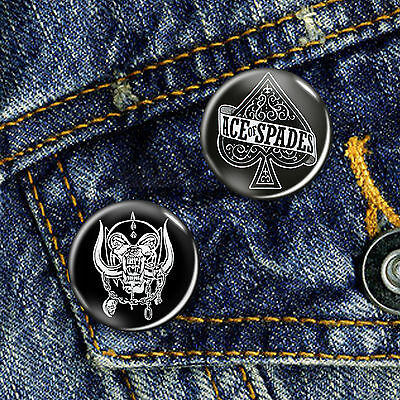 Motorhead Lemmy Classic Metal Rock Pin Button Badge 25mm, CHOICE OF 2