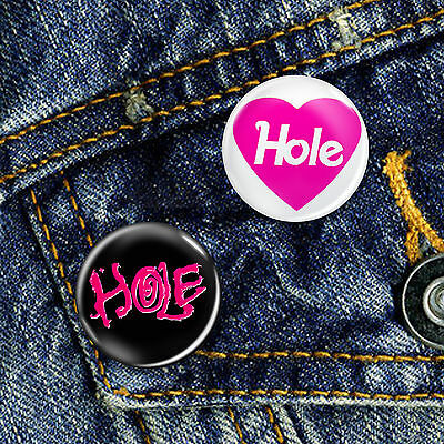 Hole Grunge Band Courtney Love Button Badge 25mm, CHOICE OF 2