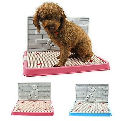 New Pet Toilet Puppy Dog Indoor Urinal Potty Pee Training Tray Trainer With Wall