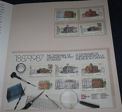 1887-1987 The Centennial of Organized Philately in Canada Capex 87 Heritage POs