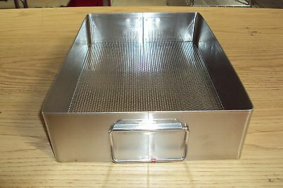 STAINLESS STEEL STERILIZATION TRAY Surgical BASKET Sterile 15 x 10 1/2 x 3 1/2