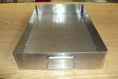 STAINLESS STEEL STERILIZATION TRAY Surgical BASKET Sterile 20 1/4 x 13 x 3 1/2