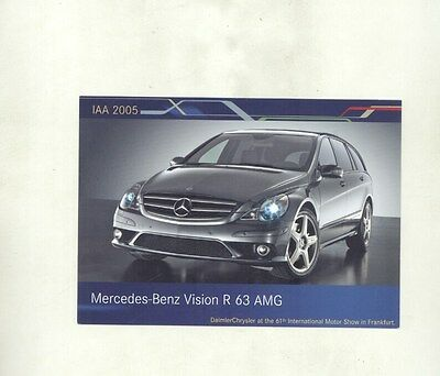 2005 Mercedes Benz Vision R 63 AMG ORIGINAL Factory Postcard my8576