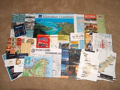 (36) Australia & New Zealand Brochures/maps/collectibles/travel & Vacation Info.