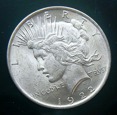 1922 PEACE LIBERTY SILVER ONE DOLLAR COIN Bright Cartwheel Luster