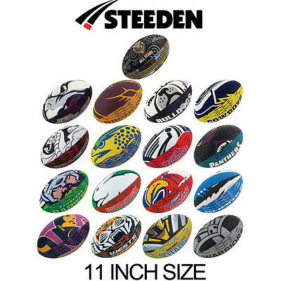 Nrl Team Supporter Rugby League Ball - 11 Inch Size - All Teams - Football Logo
