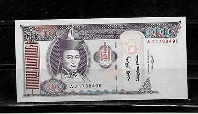 MONGOLIA #65b 2008 UNC 100 TUGRIK CURRENCY BANKNOTE BILL  PAPER MONEY CURRENCY