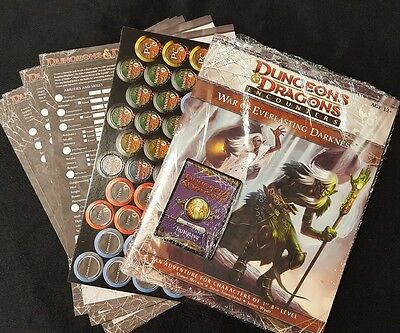 D&D Dungeons & Dragons 4e Adventure- War of Everlasting Darkness- New - bonuses!