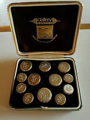 Gallery of London Men's Blazer buttons 6 large, 6 small English lion
