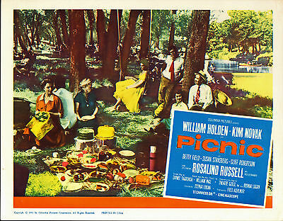PICNIC orig movie lobby card poster KIM NOVAK/WILLIAM HOLDEN/ROSALIND RUSSELL