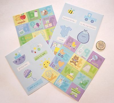 NO 227 Scrapbooking - Baby Boy - 4 Card Embellishment Sheets - Scrapbook Craft